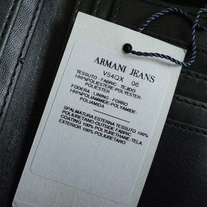 Armani Jeans Bags - AJ Embossed Logo PU Bifold Wallet